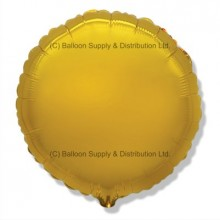 "18"" Decor Gold Round Balloon"