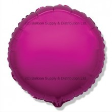 "18"" Decor Dark Pink Round Balloon"