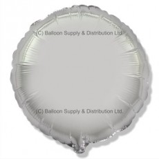 "32"" Decor Silver Round Balloon"