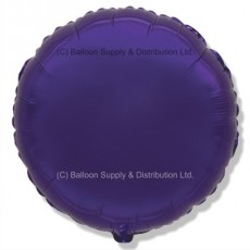 "18"" Decor Regal Purple (FM Violet) Round Balloon"
