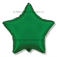"18"" Decor Green Star Balloon"