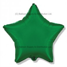 "4"" Micro Decor Green Star Balloon"