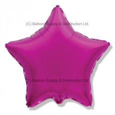 "18"" Decor Dark Pink (FM Purple) Star Balloon"