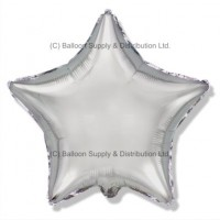 "18"" Decor Silver Star Balloon"