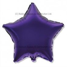 "18"" Decor Regal Purple (FM Violet) Star Balloon"