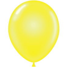 "11"" Tuf-Tex Crystal Clear Yellow Decorator Balloons - 72-Pack"