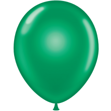 "11"" Tuf-Tex Crystal Emerald Green Decorator Balloons - 72-Pack"