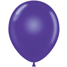 "11"" Tuf-Tex Crystal Purple Decorator Balloons - 72-Pack"