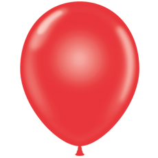 "11"" Tuf-Tex Crystal Red Decorator Balloons - 72-Pack"