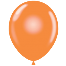 "11"" Tuf-Tex Crystal Tangerine Decorator Balloons - 72-Pack"