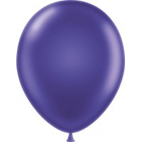 "11"" Tuf-Tex Metaltone Concord Grape Decorator Balloons - 72-Pack"