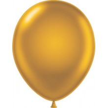 "5"" Tuf-Tex Metaltone Gold Decorator Balloons - 50-Pack"