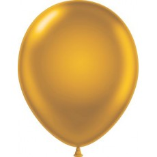 "11"" Tuf-Tex Metaltone Gold Decorator Balloons - 72-Pack"