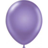"11"" Tuf-Tex Pearlised Luminous Lilac Decorator Balloons - 72-Pack"