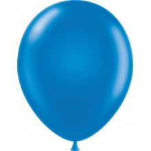 "11"" Tuf-Tex Metaltone Metallic Blue Decorator Balloons - 72-Pack"