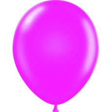 "11"" Tuf-Tex Metaltone Fuchsia Decorator Balloons - 72-Pack"