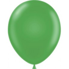 "11"" Tuf-Tex Metaltone Metallic Green Decorator Balloons - 72-Pack"