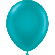"11"" Tuf-Tex Metaltone Metallic Teal Decorator Balloons - 72-Pack"