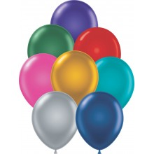 "11"" Tuf-Tex Metaltone Assortment Decorator Balloons - 72-Pack"