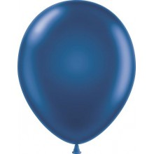"11"" Tuf-Tex Metaltone Midnight Blue Decorator Balloons - 72-Pack"