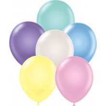 "11"" Tuf-Tex Pearlised  Assortment Decorator Balloons - 72-Pack"