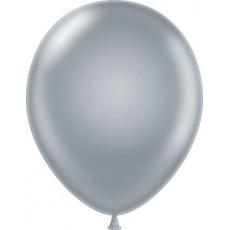 "11"" Tuf-Tex Metaltone Silver Decorator Balloons - 72-Pack"