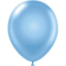"11"" Tuf-Tex Pearlised Sky Blue Decorator Balloons - 72-Pack"