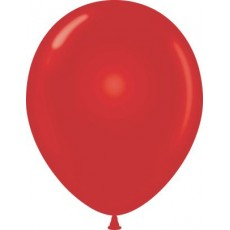 "11"" Tuf-Tex Metaltone Starfire Red Decorator Balloons - 72-Pack"