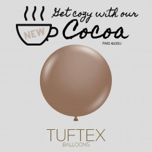 "NEW! 11"" Tuf-Tex Naturals Cocoa Decorator Balloons - 72-Pack - OUT OF STOCK, More due soon."