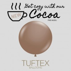 """17"""" Tuf-Tex Pastel Cocoa Decorator Balloons - 50-Pack - SOLD OUT - More Stock Expected Early May"""