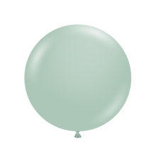 "17"" Tuf-Tex Pastel Empower-Mint Decorator Balloons - 50-Pack"