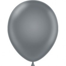 "11"" Tuf-Tex Pastel Gray Smoke Decorator Balloons - 72-Pack"