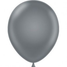 "5"" Tuf-Tex Pastel Gray Smoke Decorator Balloons - 50-Pack"