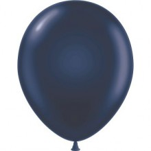 "11"" Tuf-Tex Pastel Navy Decorator Balloons - 72-Pack"