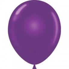 "5"" Tuf-Tex Pastel Plum Purple Decorator Balloons - 50-Pack"