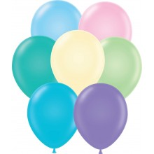 "11"" Tuf-Tex Pastel Assortment Decorator Balloons - 72-Pack"