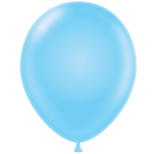 "11"" Tuf-Tex Pastel Baby Blue Decorator Balloons - 72-Pack"