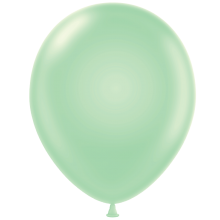 "5"" Tuf-Tex Pastel Mint Green Decorator Balloons - 50-Pack"