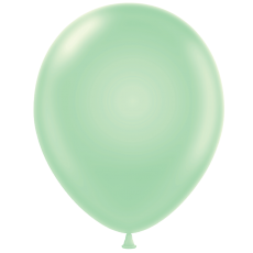 "11"" Tuf-Tex Pastel Mint Green Decorator Balloons - 72-Pack - DISCONTINUED"