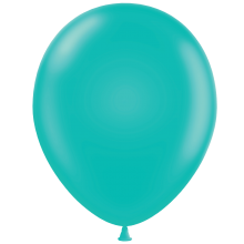 "11"" Tuf-Tex Pastel Teal Decorator Balloons - 72-Pack"