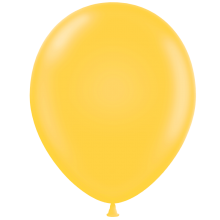 "11"" Tuf-Tex Pastel Goldenrod Decorator Balloons - 72-Pack"
