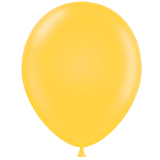 "5"" Tuf-Tex Pastel Goldenrod Decorator Balloons - 50-Pack"