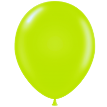 "11"" Tuf-Tex Pastel Lime Green Decorator Balloons - 72-Pack"