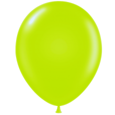 "5"" Tuf-Tex Pastel Lime Green Decorator Balloons - 50-Pack"