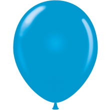 "11"" Tuf-Tex Standard Blue Latex Decorator Balloon - 72-Pack"