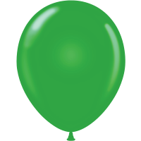 "11"" Tuf-Tex Standard Green Latex Decorator Balloon - 72-Pack"