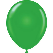 "5"" Tuf-Tex Standard Green Latex Decorator Balloon - 50-Pack"