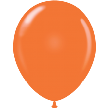 "5"" Tuf-Tex Standard Orange Latex Decorator Balloon - 50-Pack"