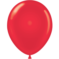 "5"" Tuf-Tex Standard Red Latex Decorator Balloon - 50-Pack"