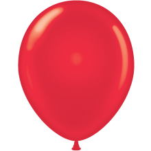 "11"" Tuf-Tex Standard Red Latex Decorator Balloon - 72-Pack"